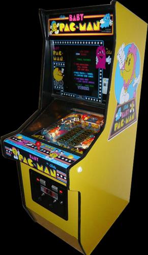 Baby Pac Man Retro Pinball Video Combination Machine Hire