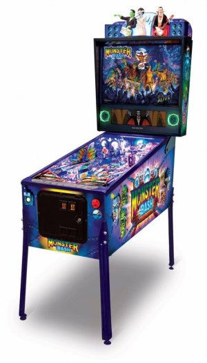 Monster Bash refurbished pinball machine