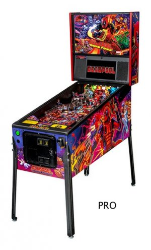 Deadpool Pinball Machine from Stern available in Pro and Premium editions