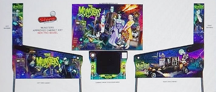 Stern Munsters Pinball Machine - Pro Model