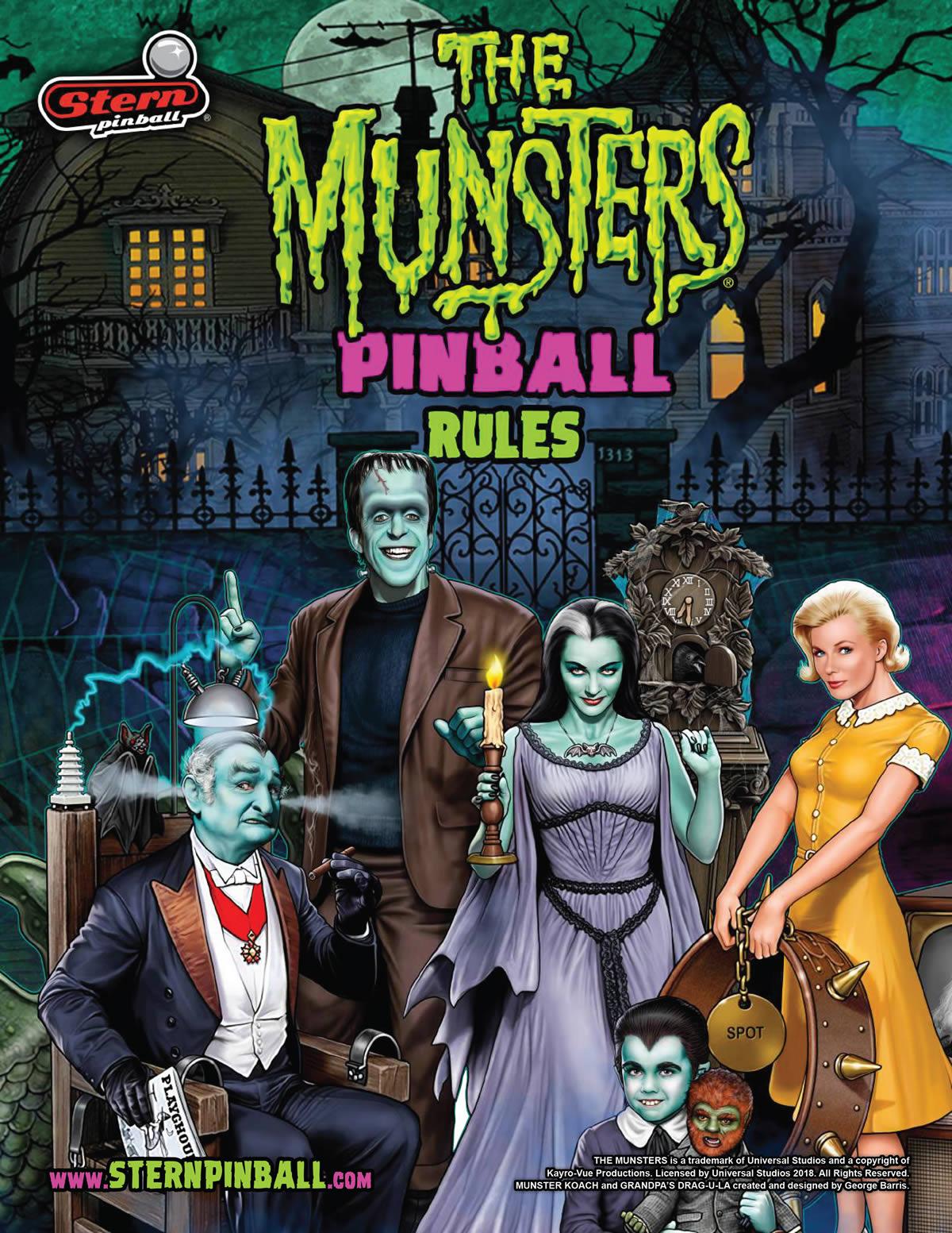 Munsters Pinball Rule Sheet
