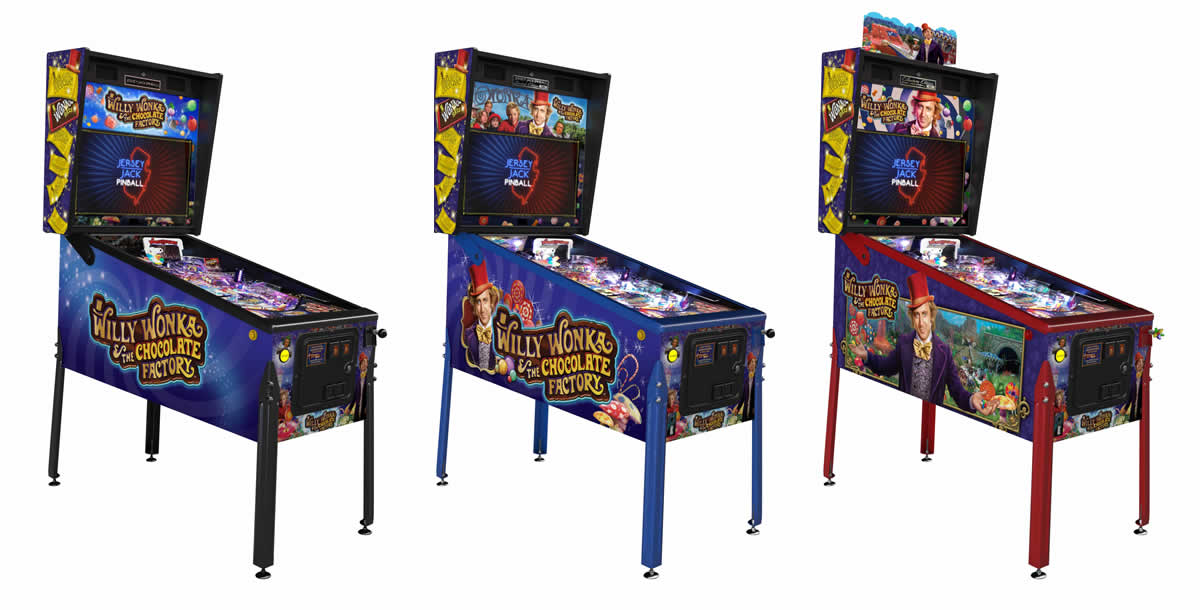 Willy Wonka Pinball Machine - Standard, Limited & Collectors Edition