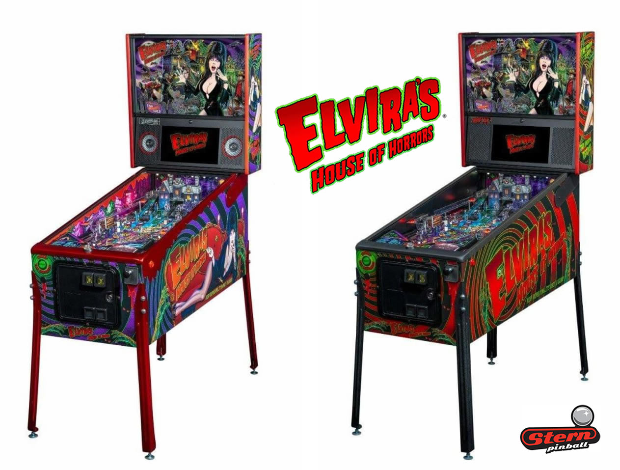 Elvira Pinball Machine by Stern