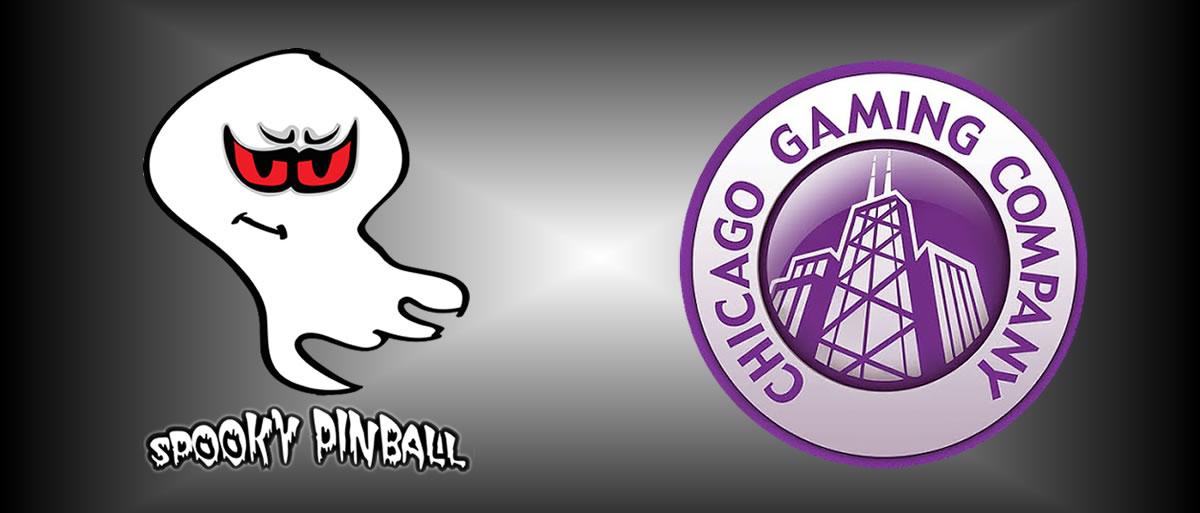 Spooky Pinball & Chicago Gaming Company Logos